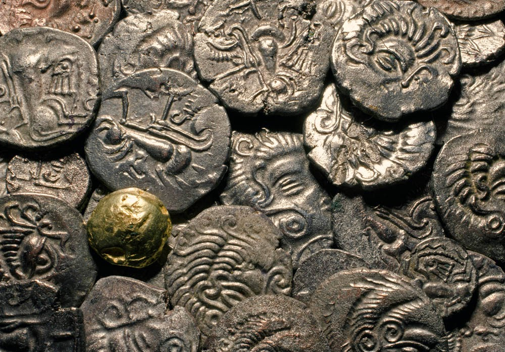 Discovered in 2012 Le Catillon II is the World's largest Celtic coin hoard.jpg