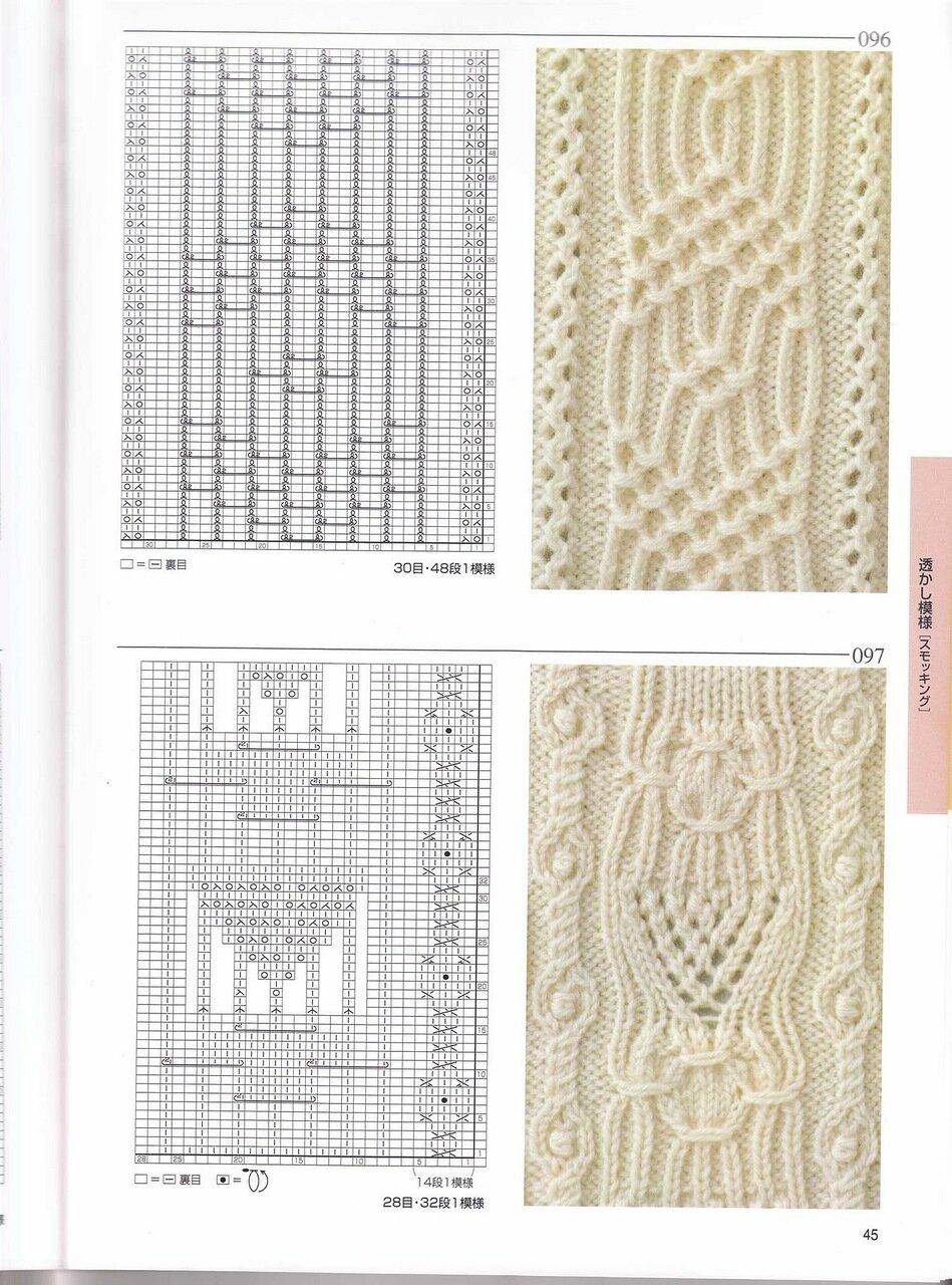Описание схем вязания спицами из японских журналов 247