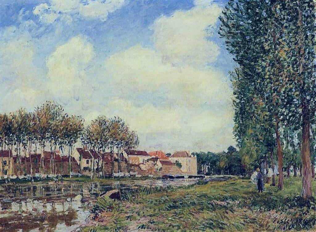 Banks of the Loing at Moret, Morning, 1886.jpg