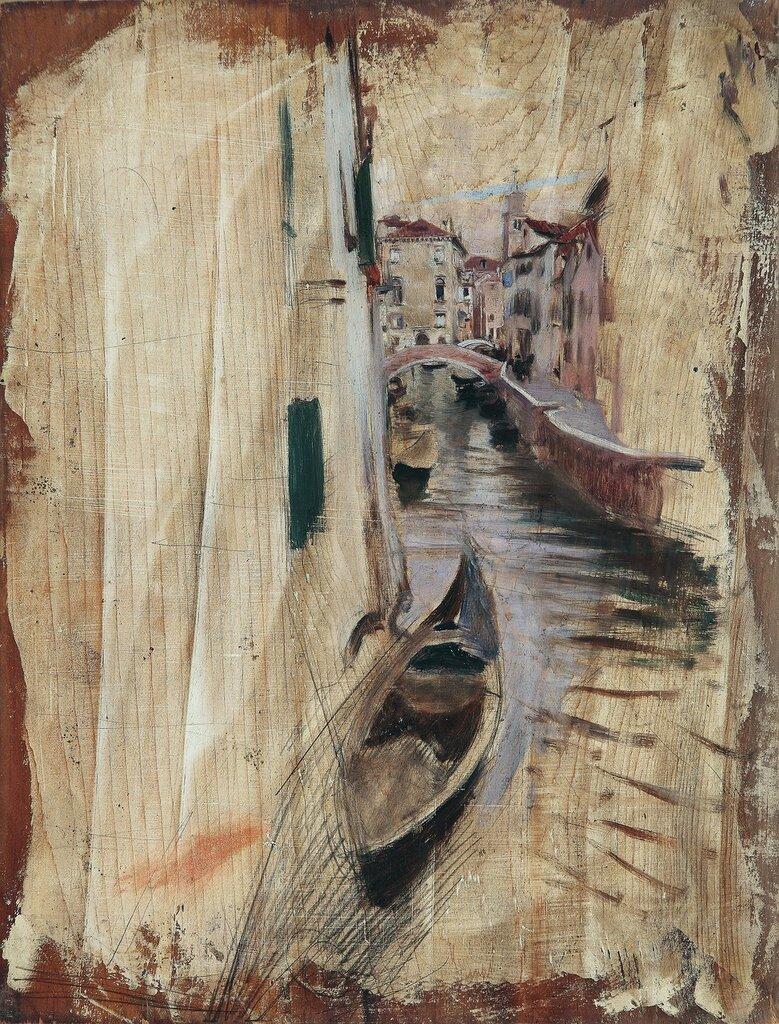 Boat on the Venetian Canal, 1931.jpg