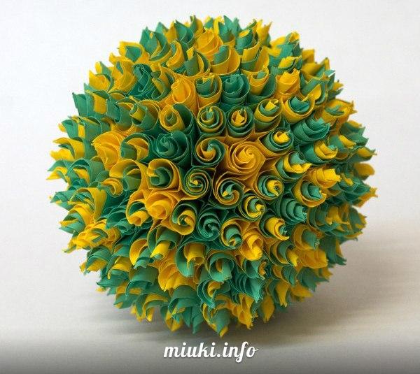 бумажные цветочные шары,