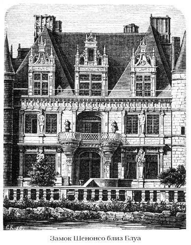 Замок Шенонсо, фасад