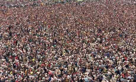 Самое большое скопление людей в мире