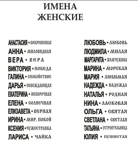 Имена для девочек по православному календарю 2017-2018