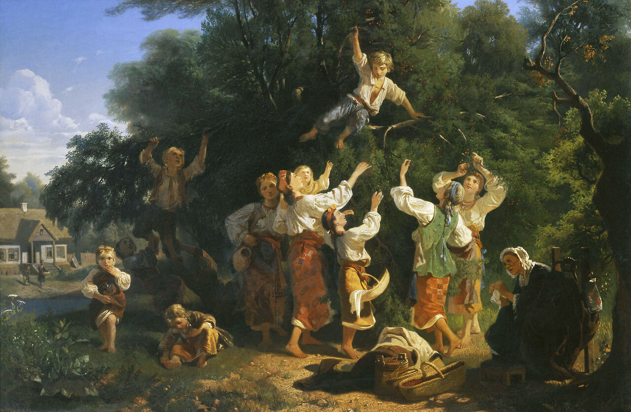 Сбор вишни в помещичьем саду. 1858. Холст, масло.jpg