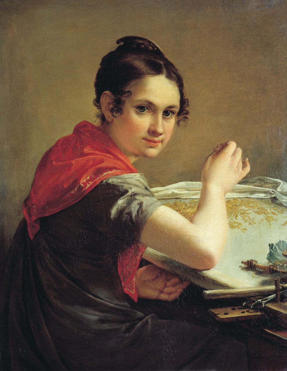 Золотошвейка. 1826. Холст, масло. 81х64 см.jpg