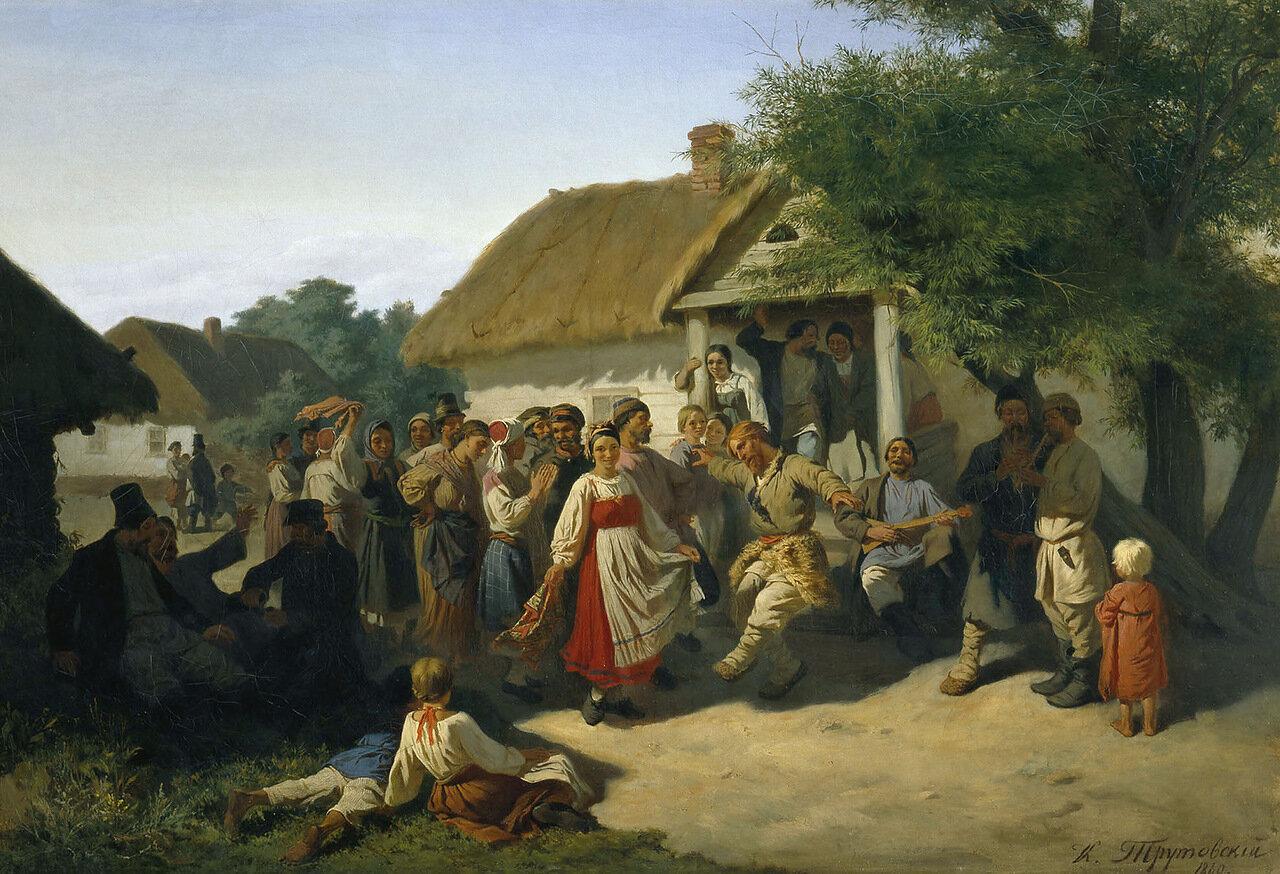 Хоровод в Курской губернии. 1860. Холст, масло.jpg