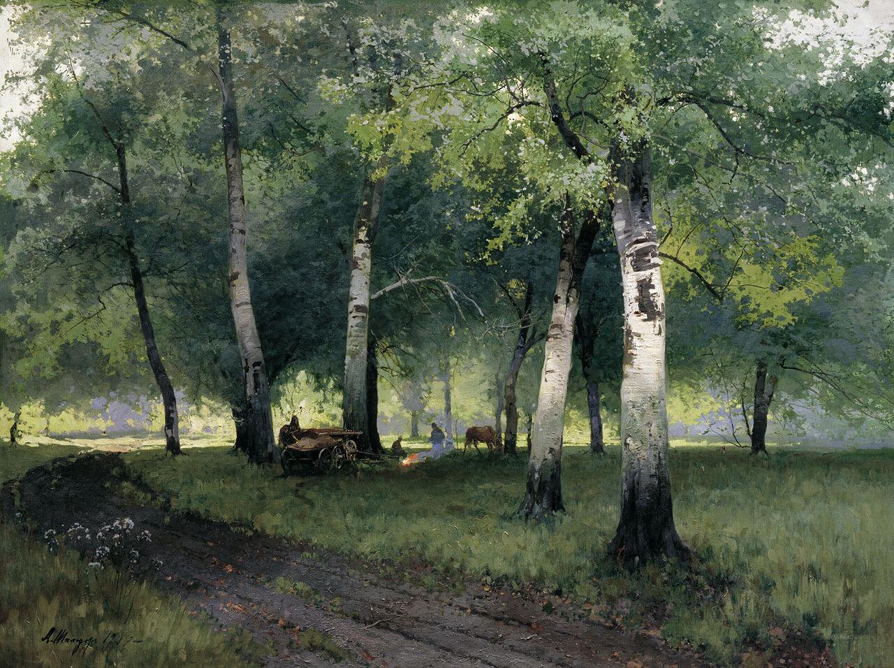 Березовый лес. 1908, холст, масло. 110х143 см.jpg