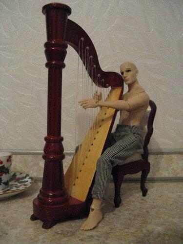 Музыкальные инструменты №12 - Арфа