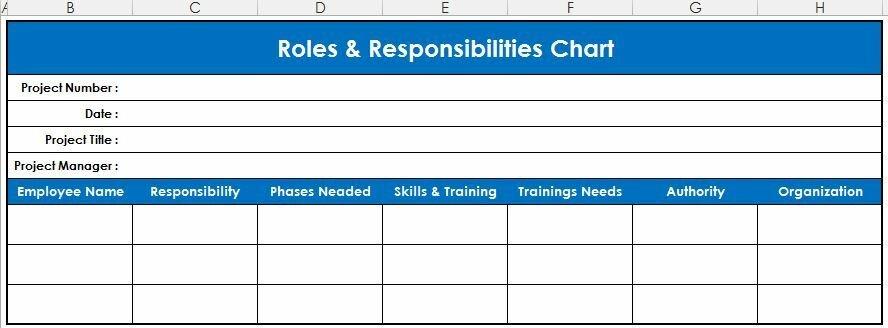 Рис. 2. Схема распределения ролей и обязанностей