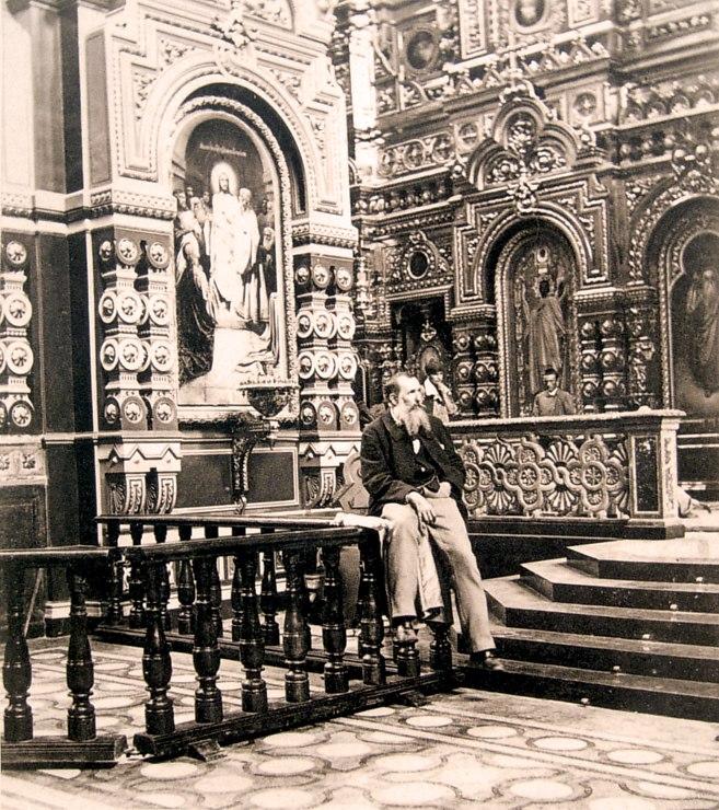 Александр Степанович Каминский в Вознесенском соборе. Фото 1890-х гг.