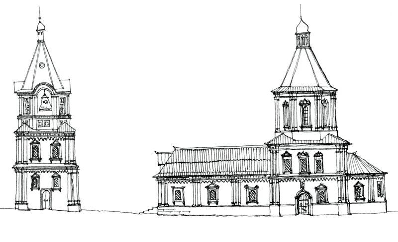 Покровская церковь Ельца в XVIII в.