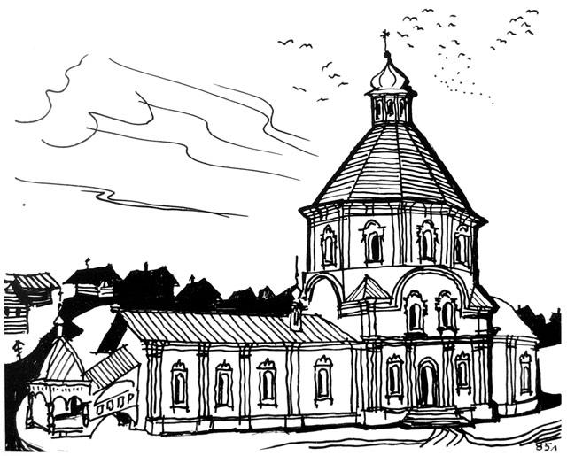 Владимирская церковь Ельца в конце XVIII в.
