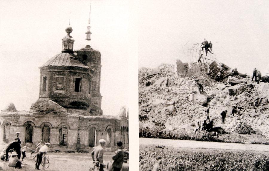 Взрыв Предтеченской церкви Ельца