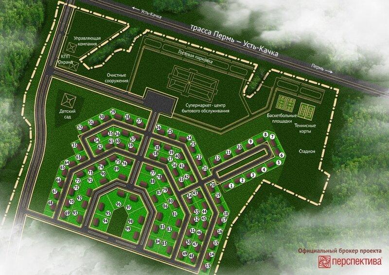 План коттеджного поселка Протасово