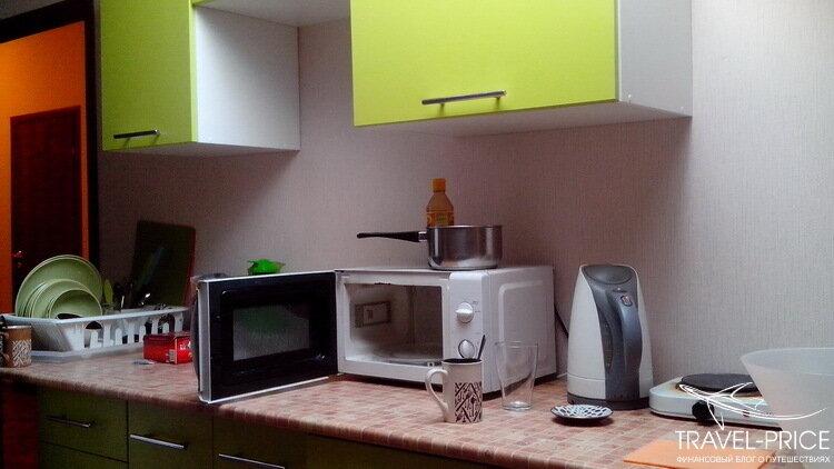 кухня в Greenpoint hostel