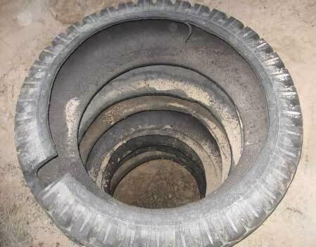 Колодец, дренажная яма и септик из шин