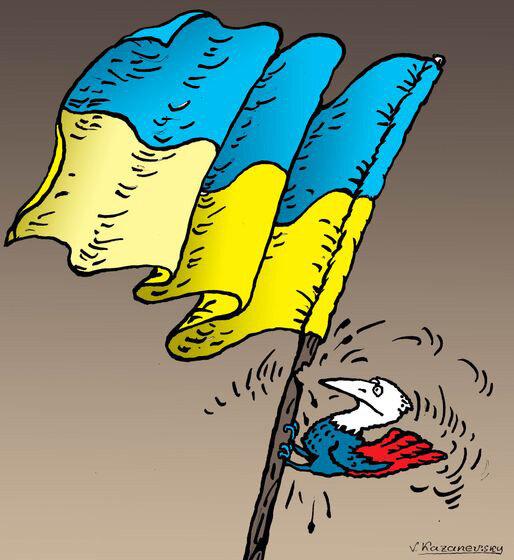 Putin and Ukraine © Vladimir Kazanevsky