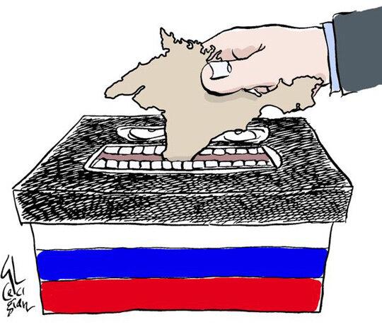 Crimea's referendum © Cecigian