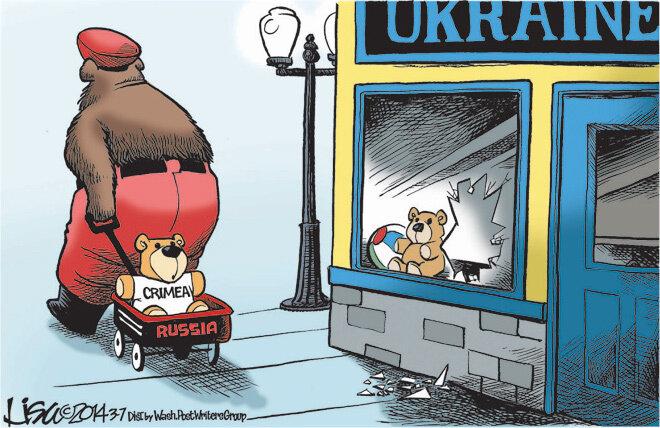 Crimea — Washington Post, March 7, 2014 © Lisa Benson
