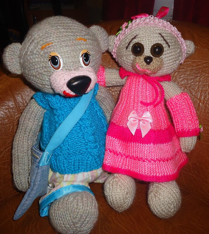 Мягкая игрушка Мишка Рома и Олеся