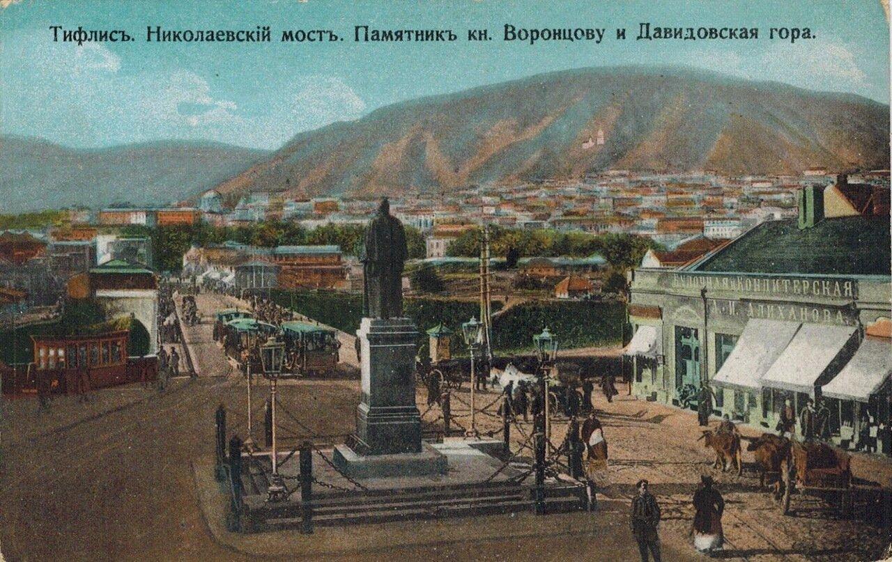 Николаевский мост. Памятник кн. Воронцову и Давидовская гора
