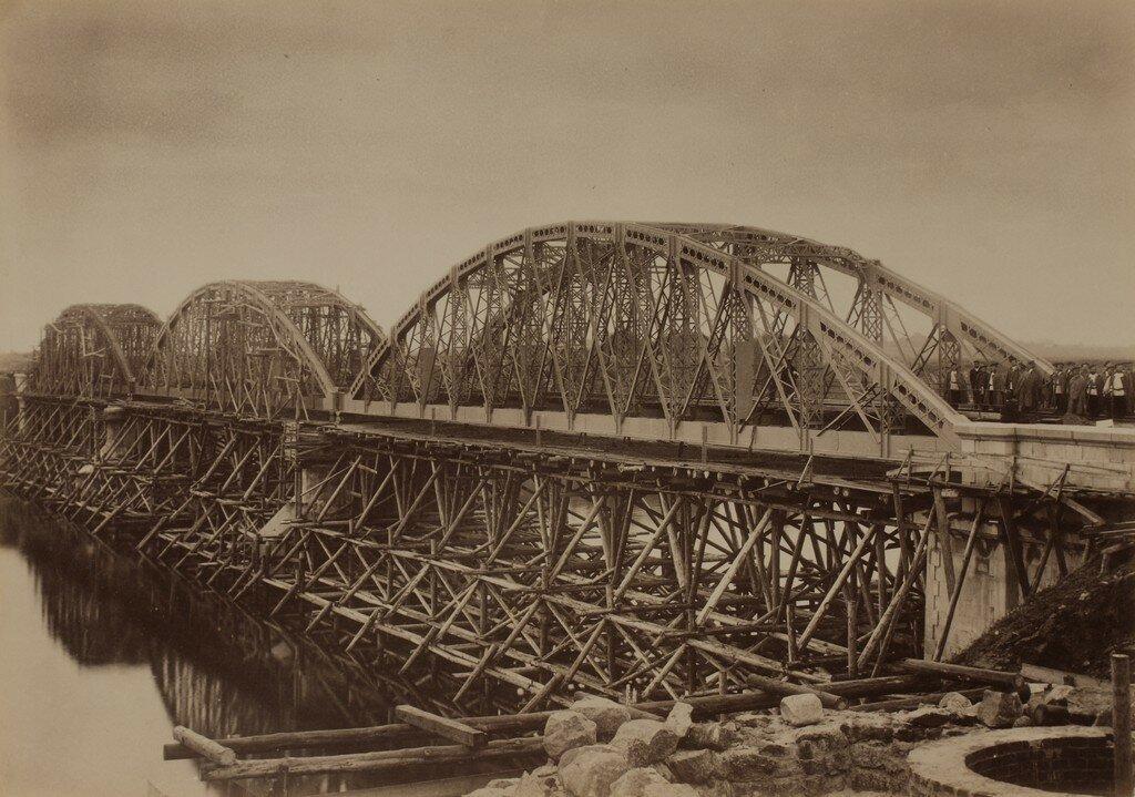 Рига. Железнодорожный мост через Великую (Рижский мост). Строительство моста