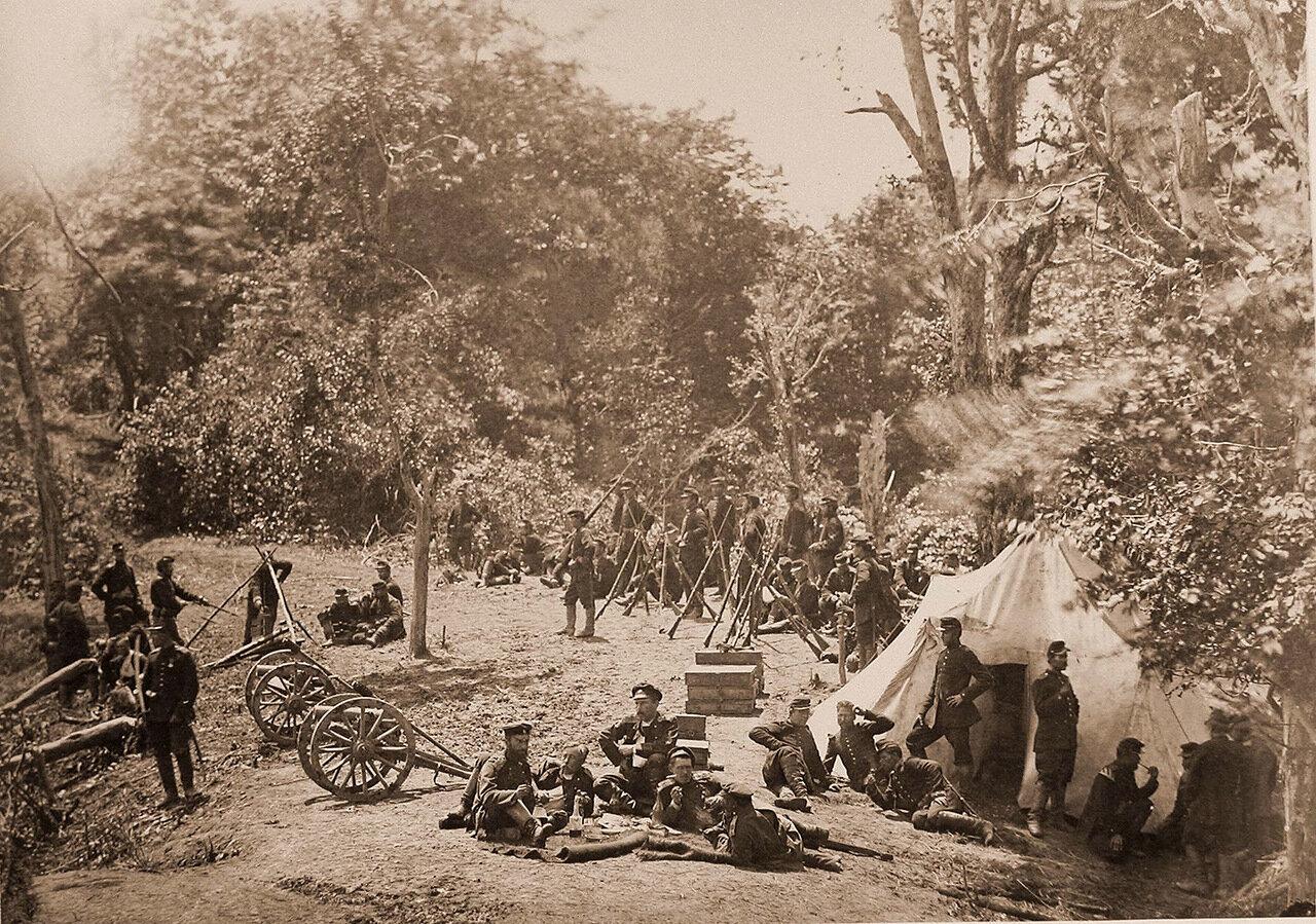 Бойцы сторожевого пикета на высотах Ачхоа