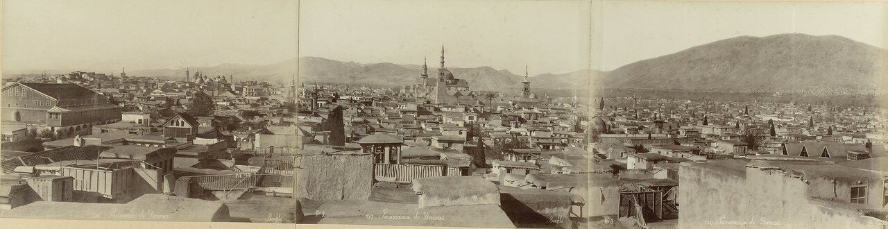 1867. Панорама Дамаска