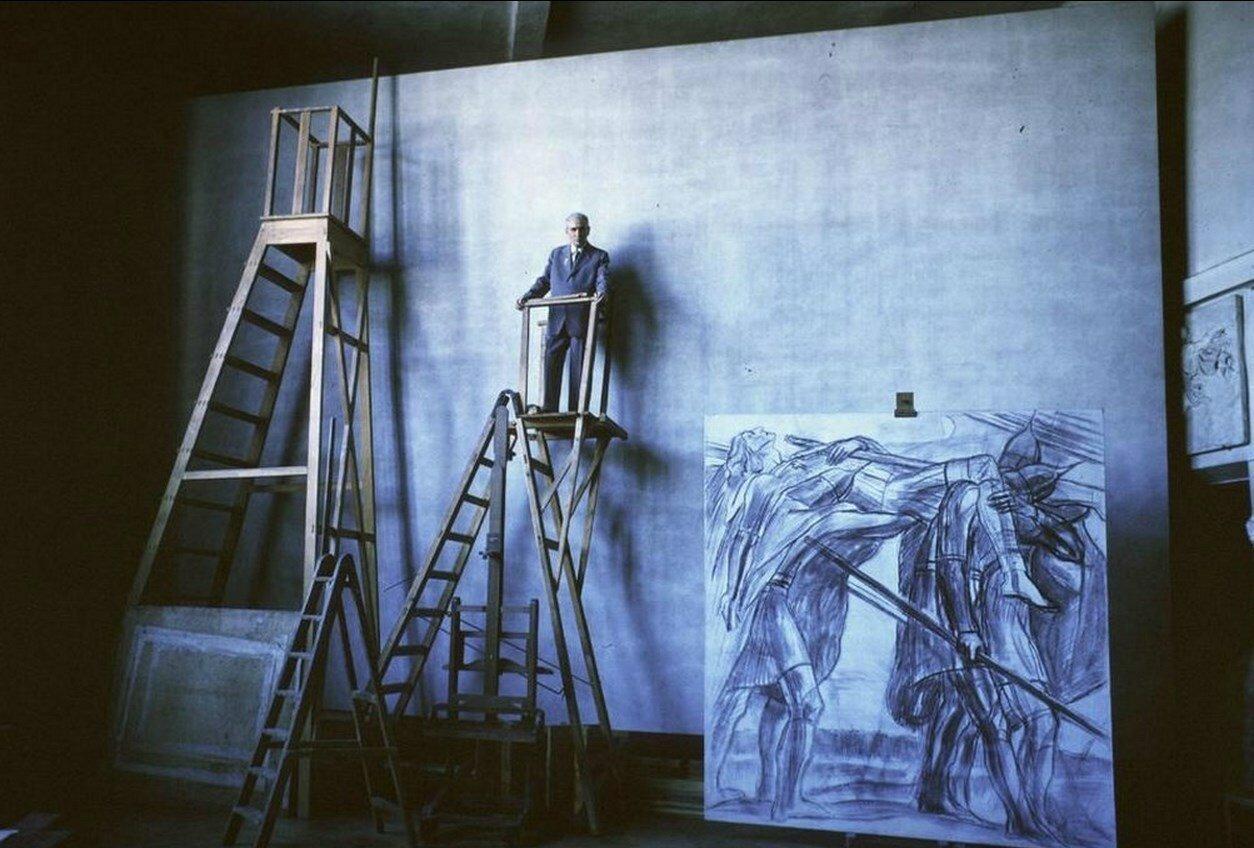 Москва. Павел Корин в своей студии
