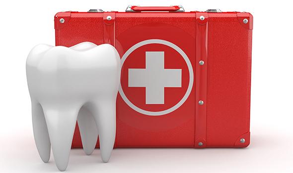 С Днем стоматолога. Зубик и чемоданчик с крестом открытки фото рисунки картинки поздравления
