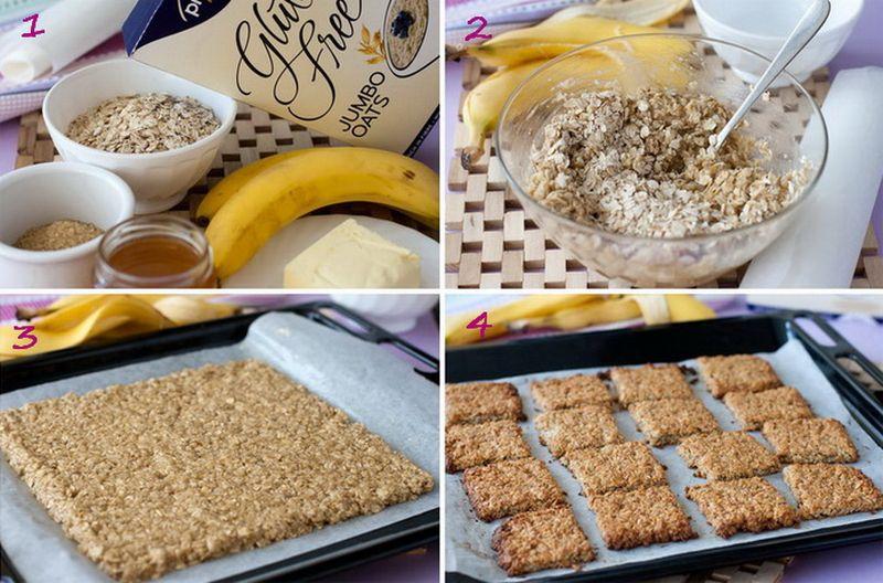 7. Банановое печенье    Вам понадобится:     2 больших мягких банана