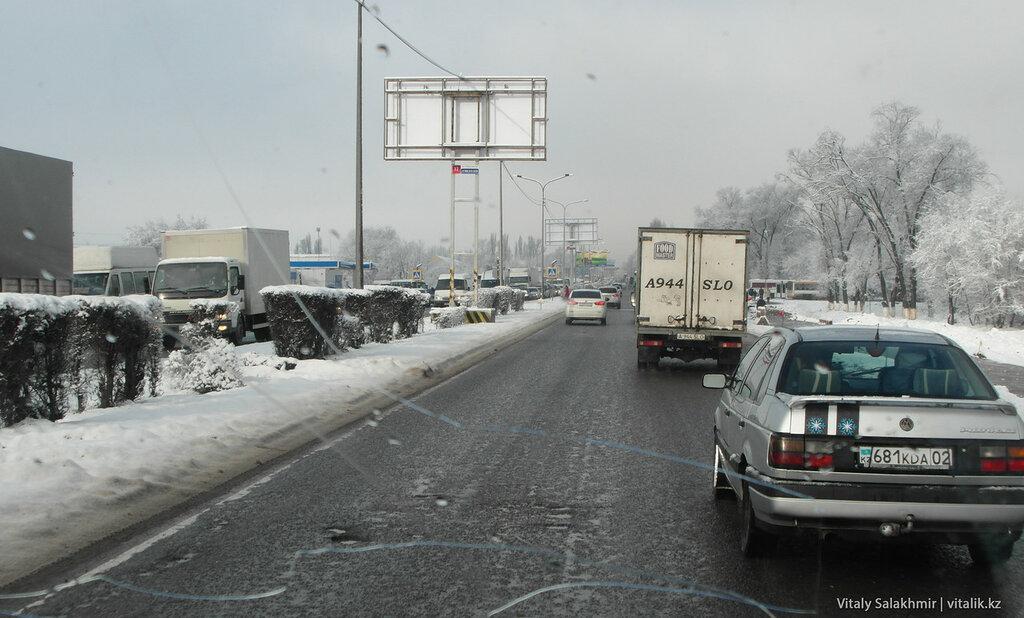 Трасса Алматы-Бишкек.
