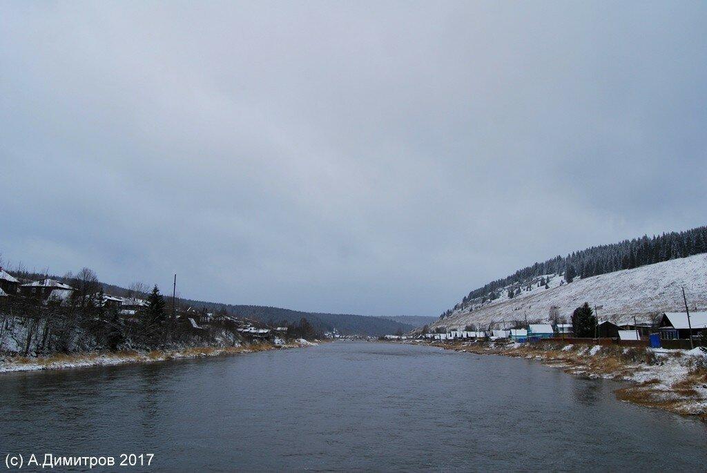 река Усьва деревня Усьва