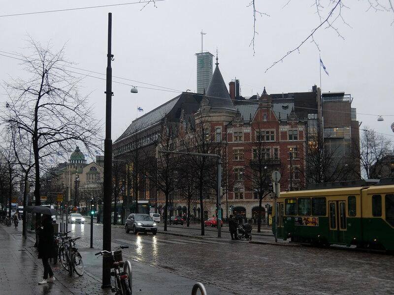 Хельсинки - Припаркованные велосипеды