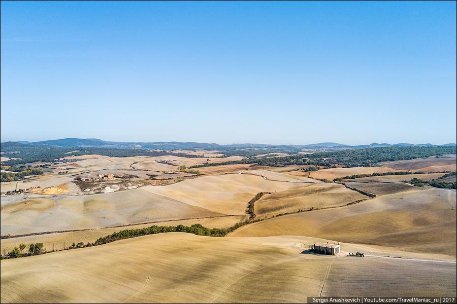 Тоскана с квадрокоптера