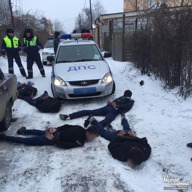 Полиция задержала пятерых автоворов 28.2.2018 в Ростове-на-Дону