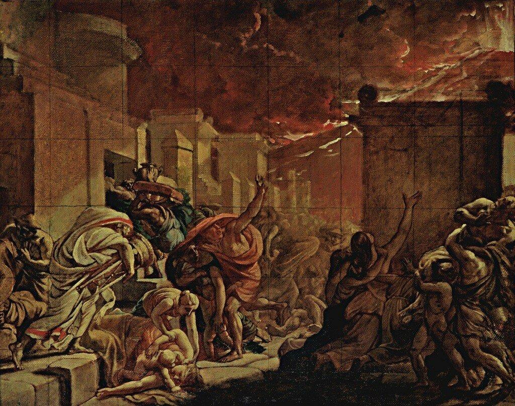 Последний день Помпеи. 1827-1830 Эскиз 58 x 76 см Государственная Третьяковская галерея, Москва