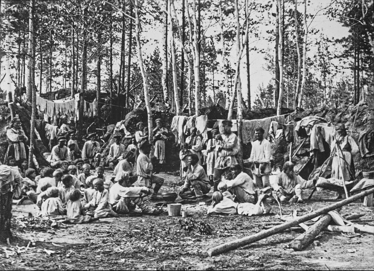 Енисейская губерния. Поселенцы около Ачинска
