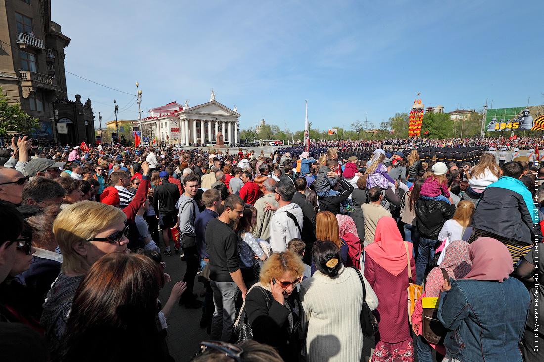 военный парад в Волгограде в честь 69 годовщины победы в ВОВ