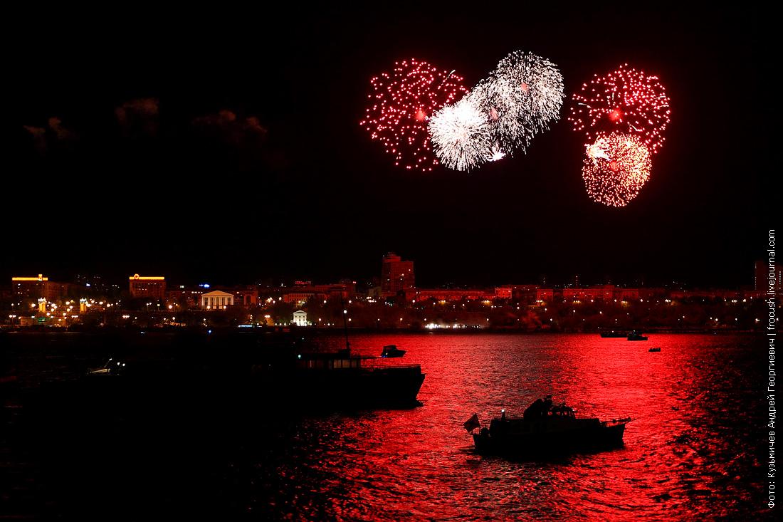 Салют День Победы в Волгограде