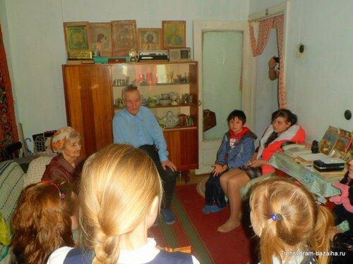 в гостях у фронтовика А.С.Заборцева