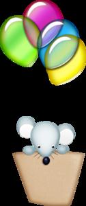 мышка на воздушном шарике