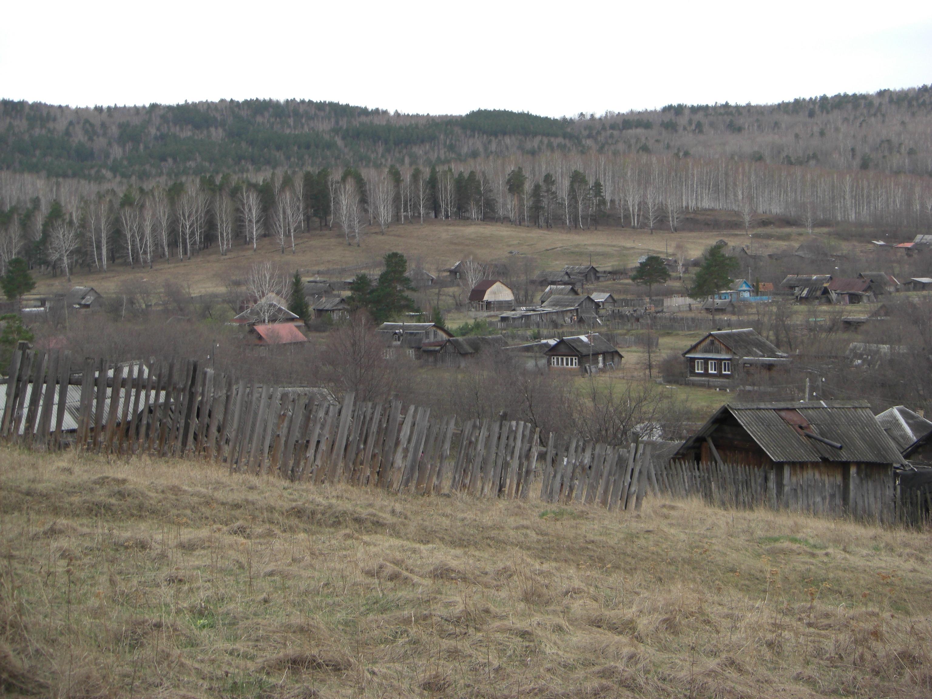 Деревня Силач, из которой мы отправились на Шихан (13.05.2014)
