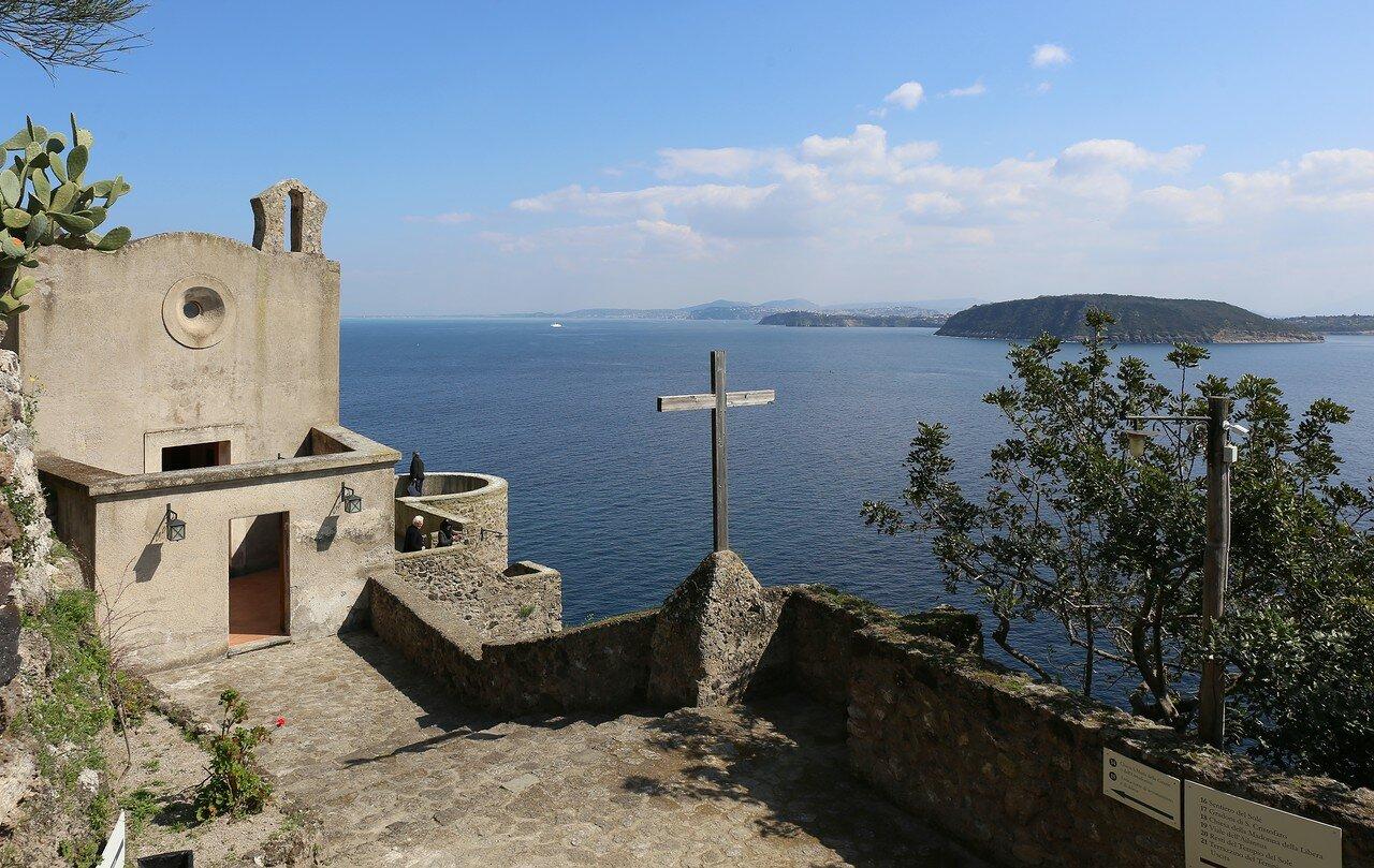 Ischia, the Aragonese castle. The Church of Santa Maria delle Grazie