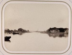 Вид устья Свирского канала и дома начальника отделения с канцелярией.