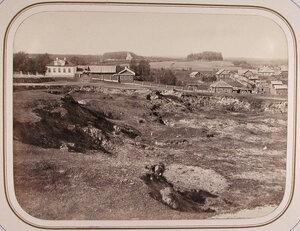 Вид жилых домов в дальнем-Заречном-квартале города. Вытегра