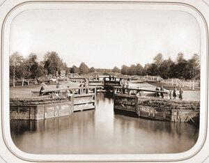 Вид шлюза №1 на Мариинском канале. Топорня ст.