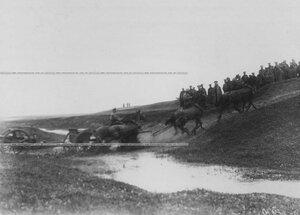 Учебная езда артиллерийского орудия.