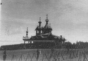 Полковой праздник у новой церкви святого благоверного князя Александра Невского.